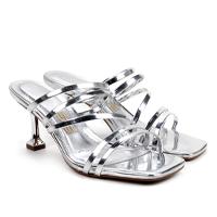 Sandália Santa Lolla Specchio Metalizado - Prata