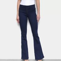 Calça Jeans Biotipo Flare Cintura Média Feminina - Azul
