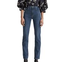 Calça Jeans Levis 724 High Rise Straight - 70107 - Azul Escuro