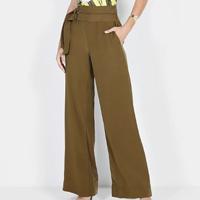 Calça Dimy Pantalona Fivelas Duplas Feminina - Verde