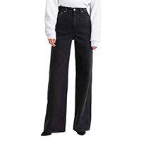 Calça Jeans Levis Ribcage Wide Leg 70007 Feminina - Azul Escuro