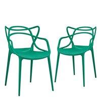 Conjunto - 2 x cadeiras Masters Allegra - Verde escuro