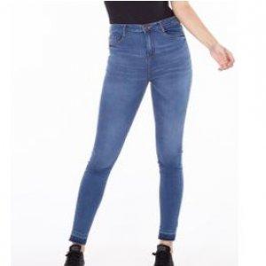 Calça Feminina Jeans Cintura Alta Stone Tamanho 34