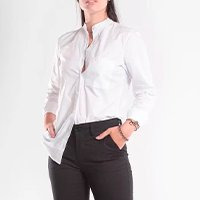 Camisa Tricoline Manga Longa - Branco