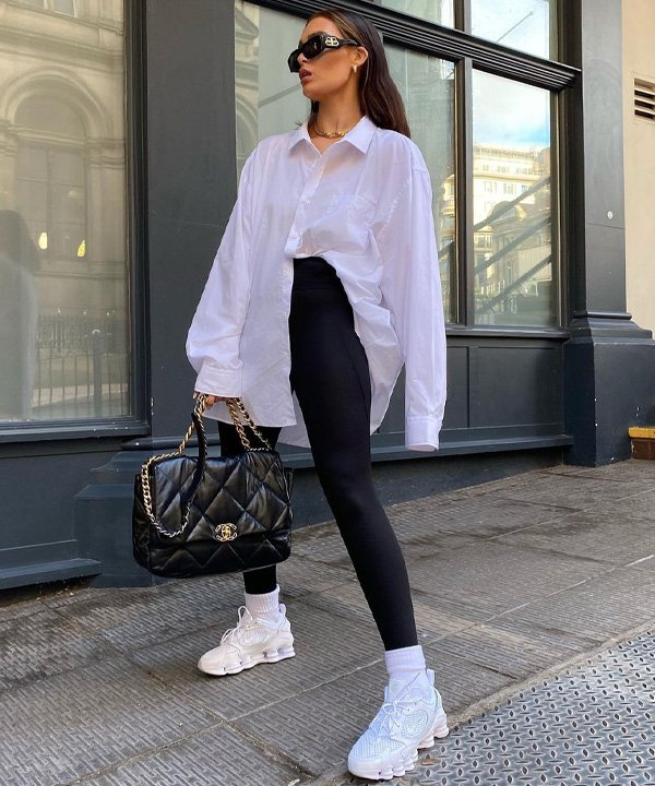 Alicia Roddy - camisa branca longa - camisa social - outono - street style - https://stealthelook.com.br