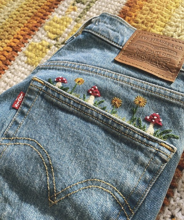 Pinterest - diy com jeans - patchwork - outono - street style - https://stealthelook.com.br