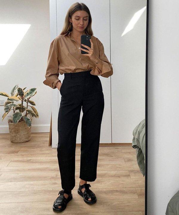 Brittany Bathgate - sandália tendência  - fisherman sandal - outono - street style - https://stealthelook.com.br