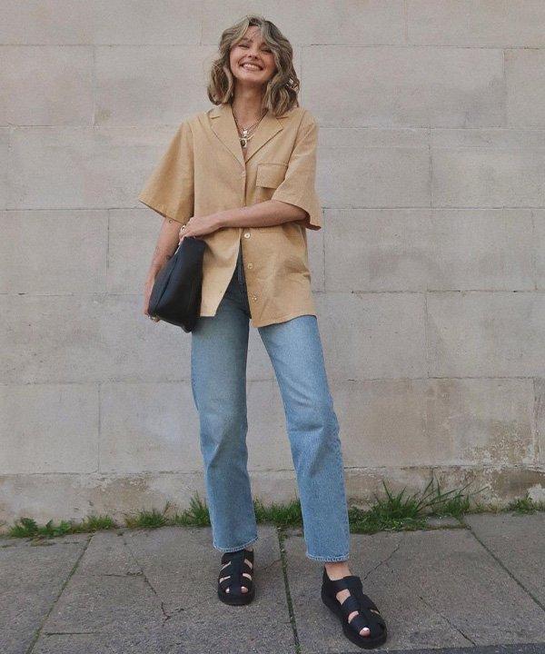 Chloe Hayward - sandália tendência  - fisherman sandal - outono - street style - https://stealthelook.com.br