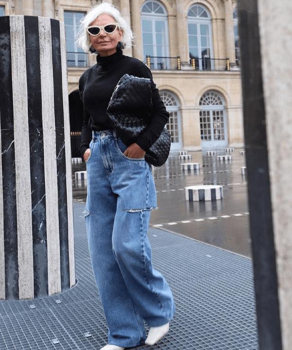 Grece Ghanem - tendências de inverno - wide leg jeans - outono - street style - https://stealthelook.com.br