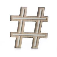 Letreiro Decorativo Hashtag Neon - Etna