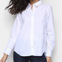 Camisa Manga Longa Lacoste Lisa Feminina - Branco