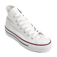 Tênis Converse Chuck Taylor All Star Platform Hi - Branco - Branco