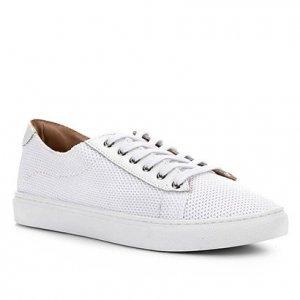 Tênis Shoestock Tricot Couro - Feminino - Branco