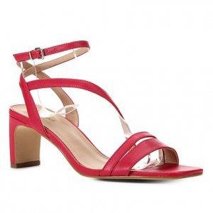 Sandália Couro Shoestock Salto Médio Feminina - Feminino - Rosa