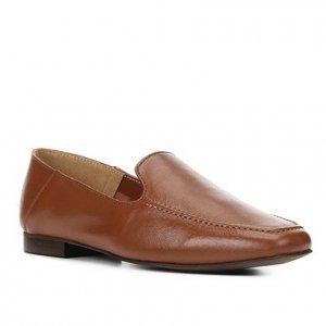 Mocassim Couro Shoestock Loafer Feminino - Feminino - Marrom