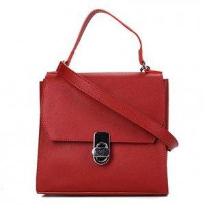Bolsa Shoestock Satchel Safiano Feminina - Feminino - Vermelho