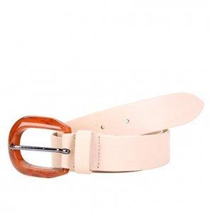 Cinto Couro Shoestock Ascari Feminino - Feminino - Bege
