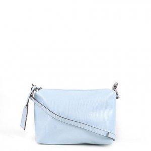 Bolsa Shoestock Mini Bag Lezard Transversal Média Feminina - Feminino - Azul Claro