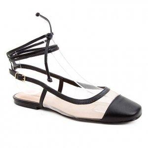Sapatilha Couro Shoestock Bico Quadrado Tela Feminina - Feminino - Preto