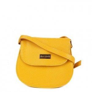 Bolsa Shoestock Transversal Lezard Mini Bag Feminina - Feminino - Amarelo