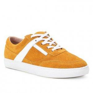 Tênis Couro Shoestock Camurça Color Feminino - Feminino - Amarelo