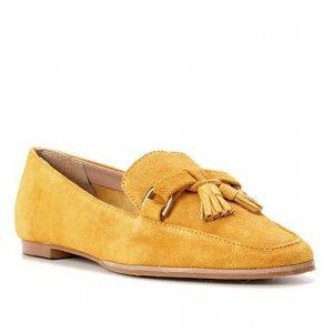 Mocassim Couro Shoestock Camurça Tassel Feminino - Feminino - Amarelo