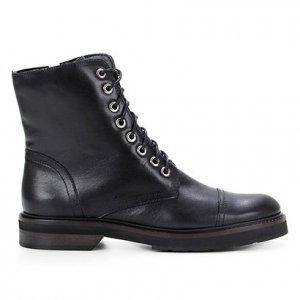Bota Coturno Shoestock Couro Cano Curto Feminina - Feminino - Preto
