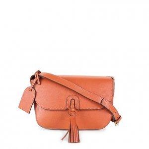 Bolsa Couro Shoestock Transversal Tassel Feminina - Feminino - Caramelo
