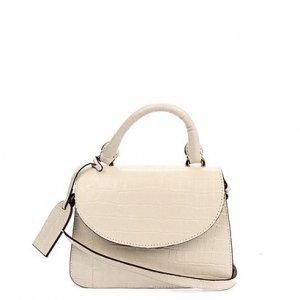 Bolsa Couro Shoestock Mini Transversal Croco Feminina - Feminino - Off White