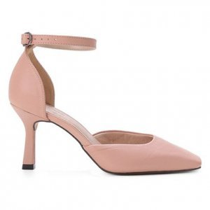 Scarpin Couro Shoestock Bico Reto Salto Alto - Feminino - Rosa