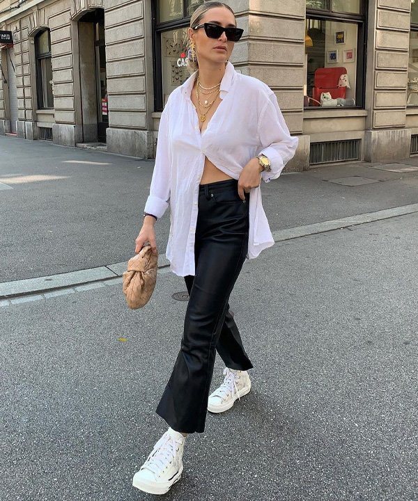 Olivia Faeh - camisa branca longa - camisa social - outono - street style - https://stealthelook.com.br