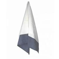 Pano de Prato Branco com Barra Azul - Estúdio Avelós