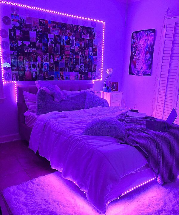 decoração de quarto - decoração de quarto - quarto neon - outono - brasil - https://stealthelook.com.br