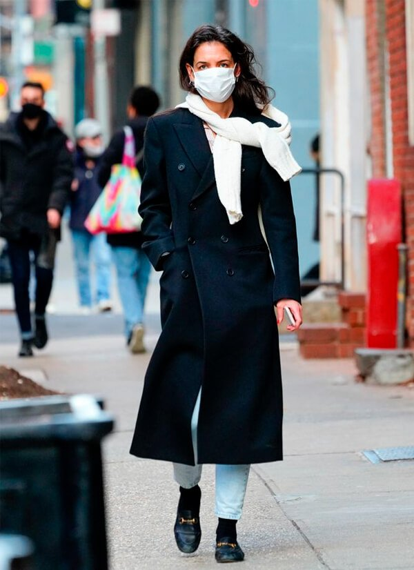 Katie Holmes - Sapatos - Mocassim - Outono - Street Style - https://stealthelook.com.br