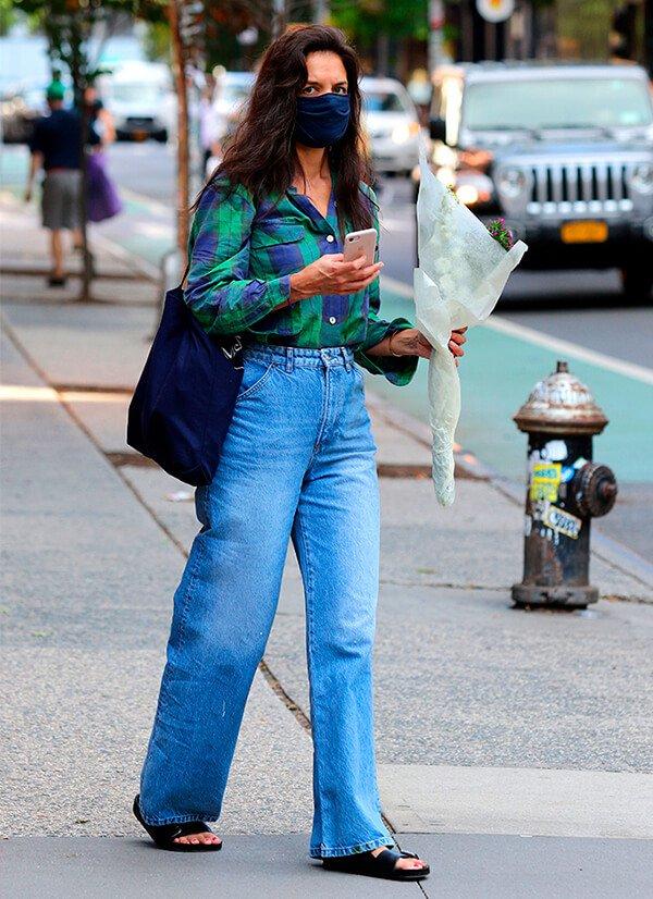 Katie Holmes - Sapato - Sandália birken - Outono - Street Style - https://stealthelook.com.br