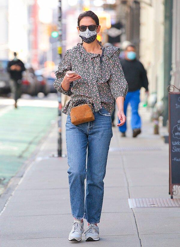 Katie Holmes - Sapato - Tênis esportivo - Outono - Street Style - https://stealthelook.com.br