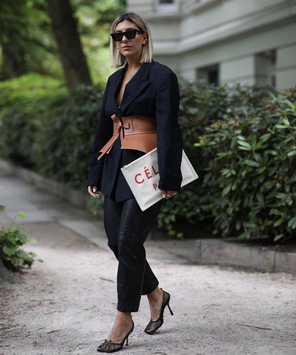 Pinterest - acessório tendência - corset belt - outono - street style - https://stealthelook.com.br