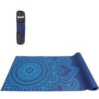 Tapete Yoga Mat Pilates PVC Com Estampa e Bolsa Yangfit