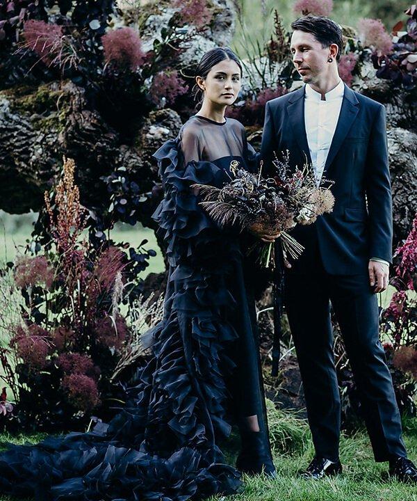 Lydia Pang - vestido de noiva - vestido de noiva preto - outono - brasil - https://stealthelook.com.br