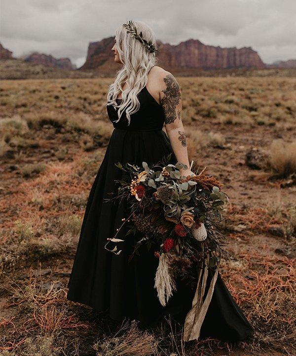 Julia Duke - vestido de noiva - vestido de noiva preto - outono - brasil - https://stealthelook.com.br