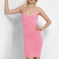 Vestido Flora Zuu Tubinho Neon - Rosa