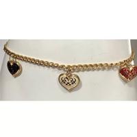Corrente Cintos Exclusivos Metal Coração Feminino - Dourado