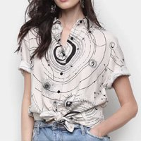Camisa Cantão Zodiaco Feminina - Off White