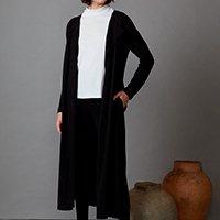 casaco longo preto quasar