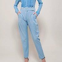 Calça Alfaiataria Azul Bebê Golden Dress Feminina - Azul