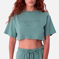 CROPPED BOLD APPROVE MONOCHROMATIC VERDE