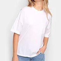 Camiseta Colcci Terra Ampla Feminina - Branco