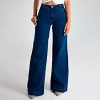 Calça Pantalona - Toronto - Santé Denim Feminina - Azul