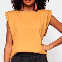Camiseta Colcci Muscle Tee Feminina - Marrom