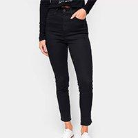 Calças Jeans Skinny Colcci Cintura Alta Feminina - Preto